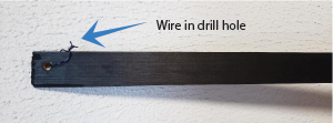 Wire in drill hole